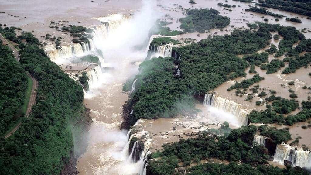 Iguazu Falls er et fantastisk skue.