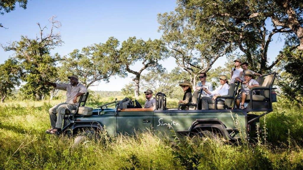 Private game driving i Sabi Sand i Sydafrika.