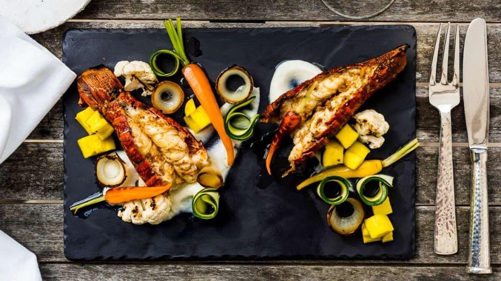 Frisk seafood på Birkenhead House.