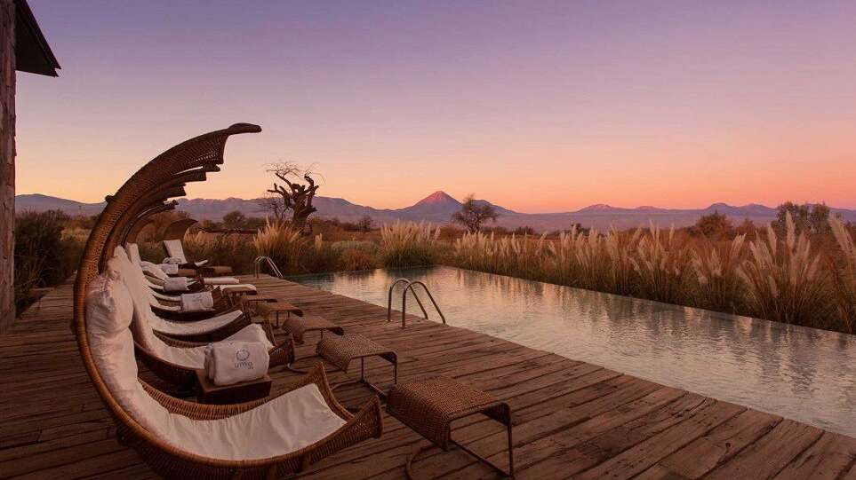 Poolside på Tierra Atacama i Chile.