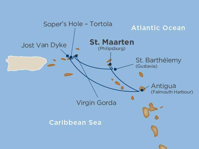 Lystsejlads i Caribien