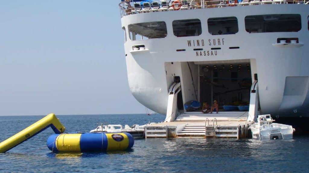 Vandsportsplatformen på Wind Surf.