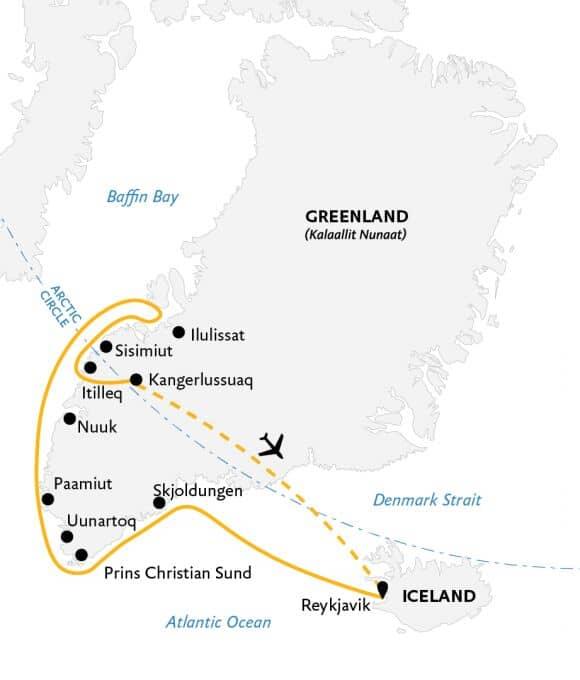 Essential Greenland kort.