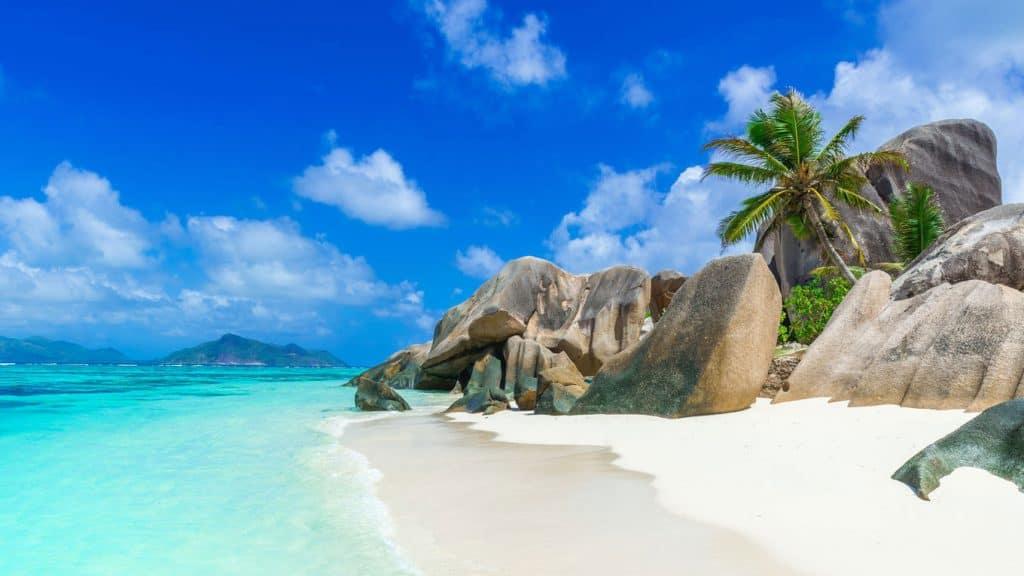 La Digue på Seychellerne.